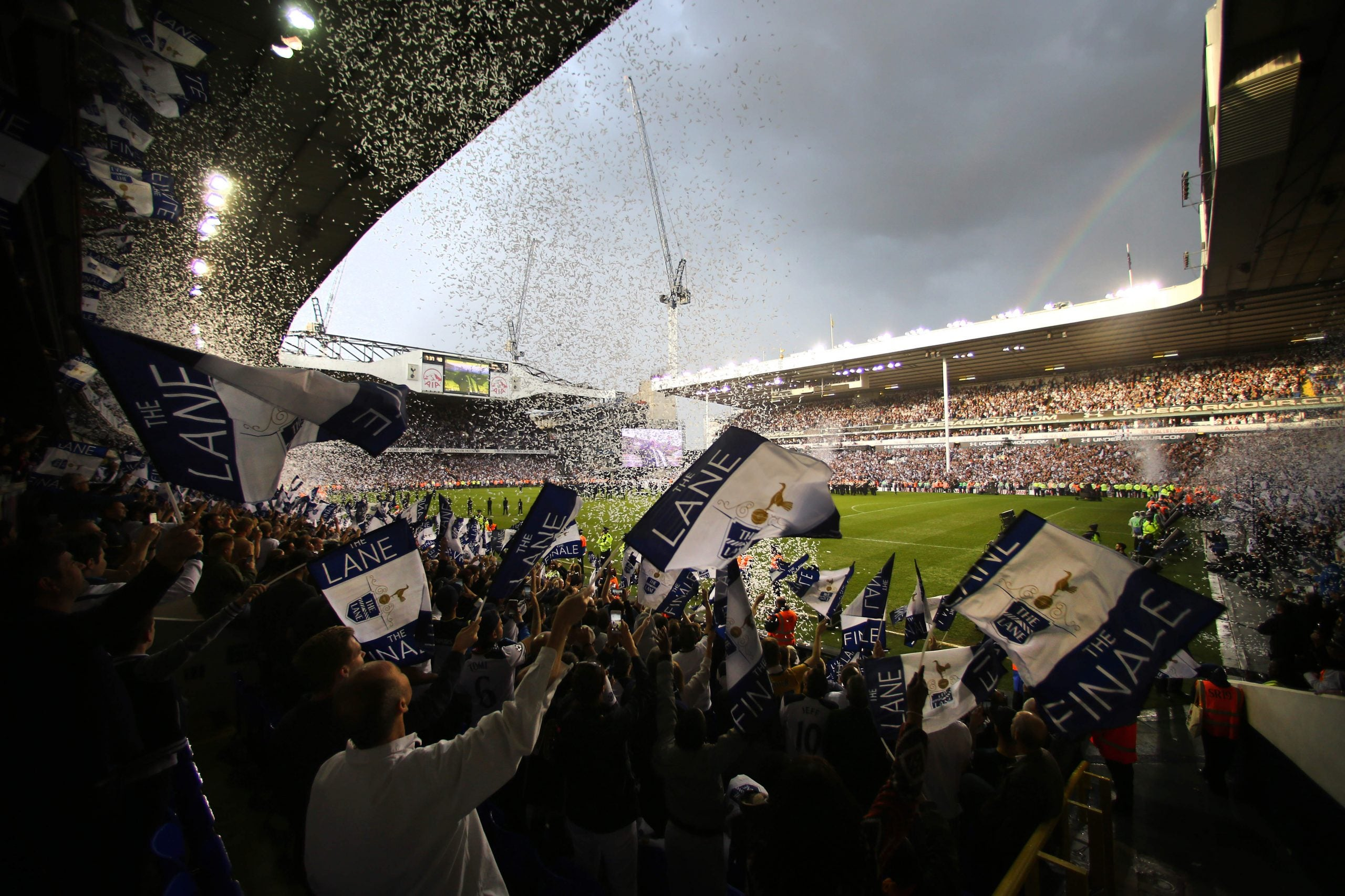 Spurs' last game at White Hart Lane ... the crowd never stopped singing