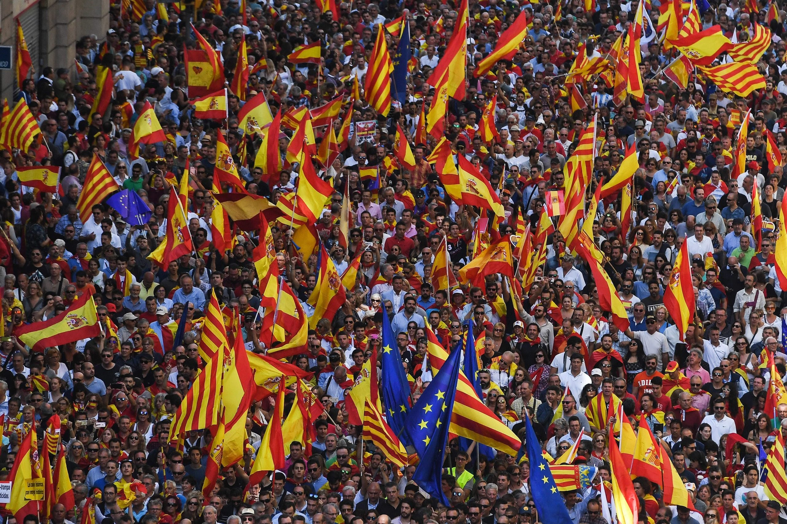 """""""Who is the real bad guy?"""" Spain's political game in Catalonia"""