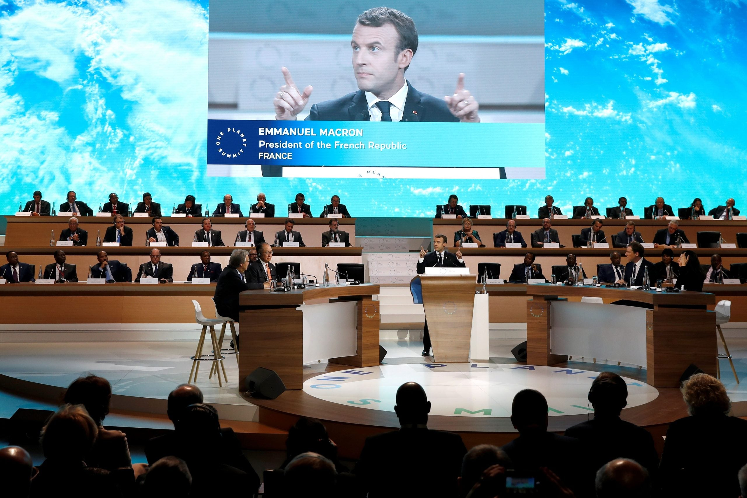 Emmanuel Macron isn't making our planet great again, he's just talking about it