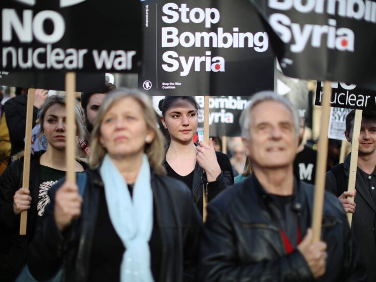 """If the left """"virtue signals"""", the US-led airstrikes on Syria were """"gesture bombing"""""""