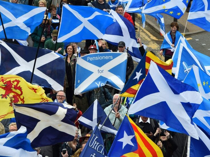 Scotland's independence marchers show the movement is far bigger than the SNP