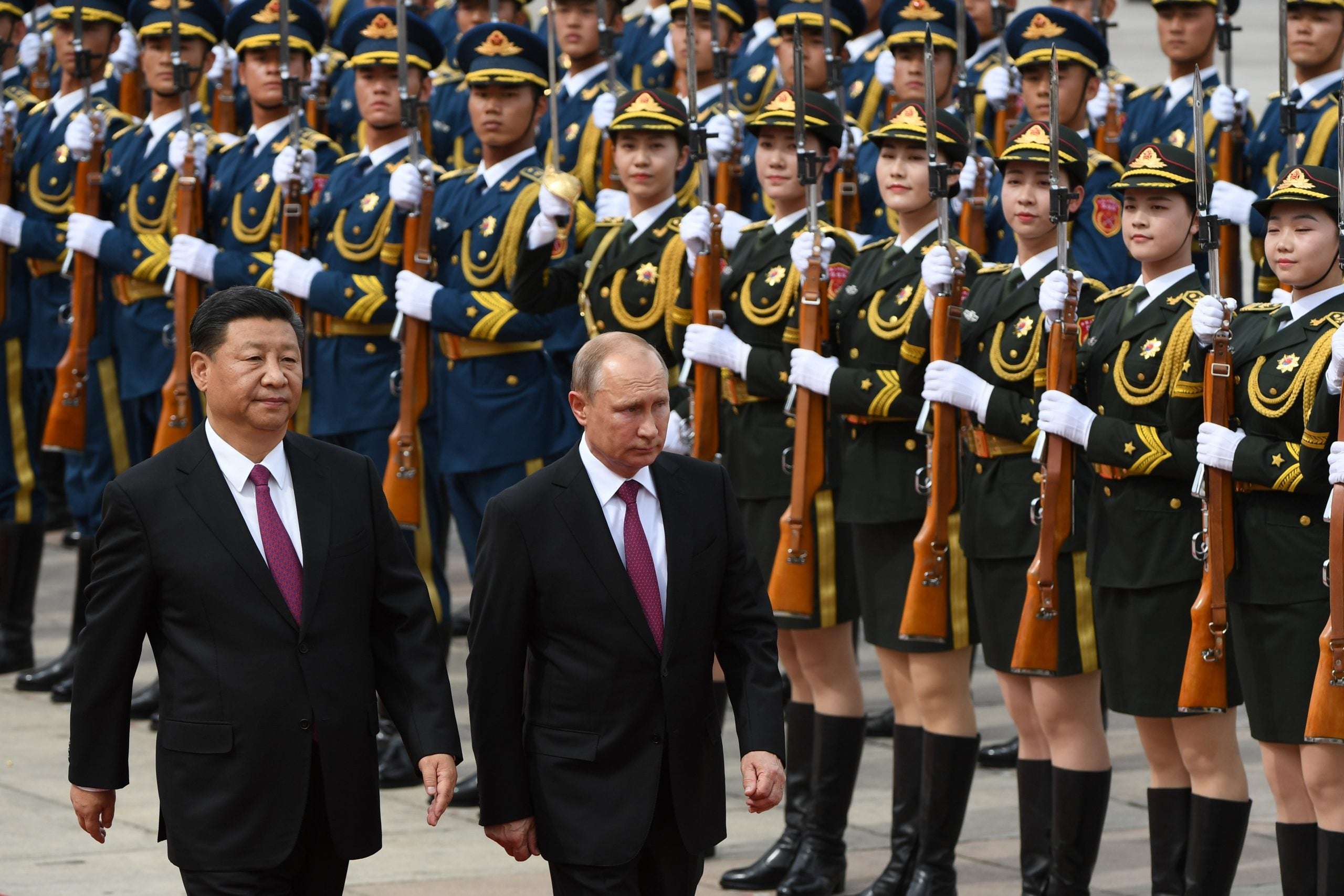 As the western alliance crumbles, Russia and China are moving closer together