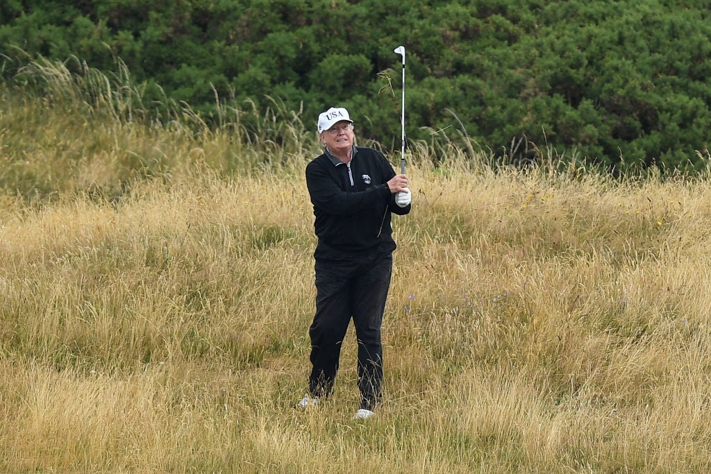 Multi-swings, souped-up buggies and dropping it straight in the hole: why presidents cheat at golf