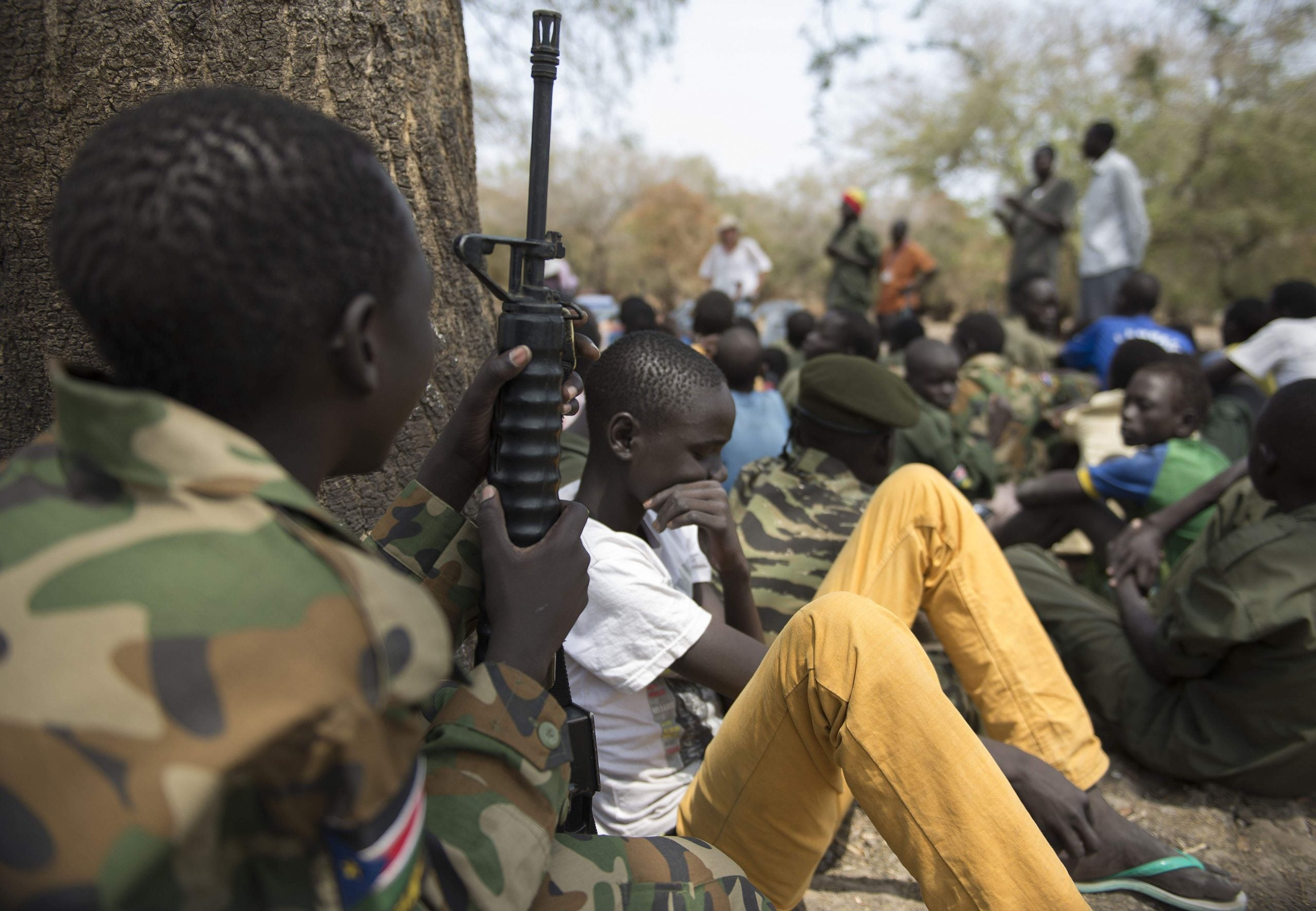 How can the UK help the child soldiers of South Sudan?