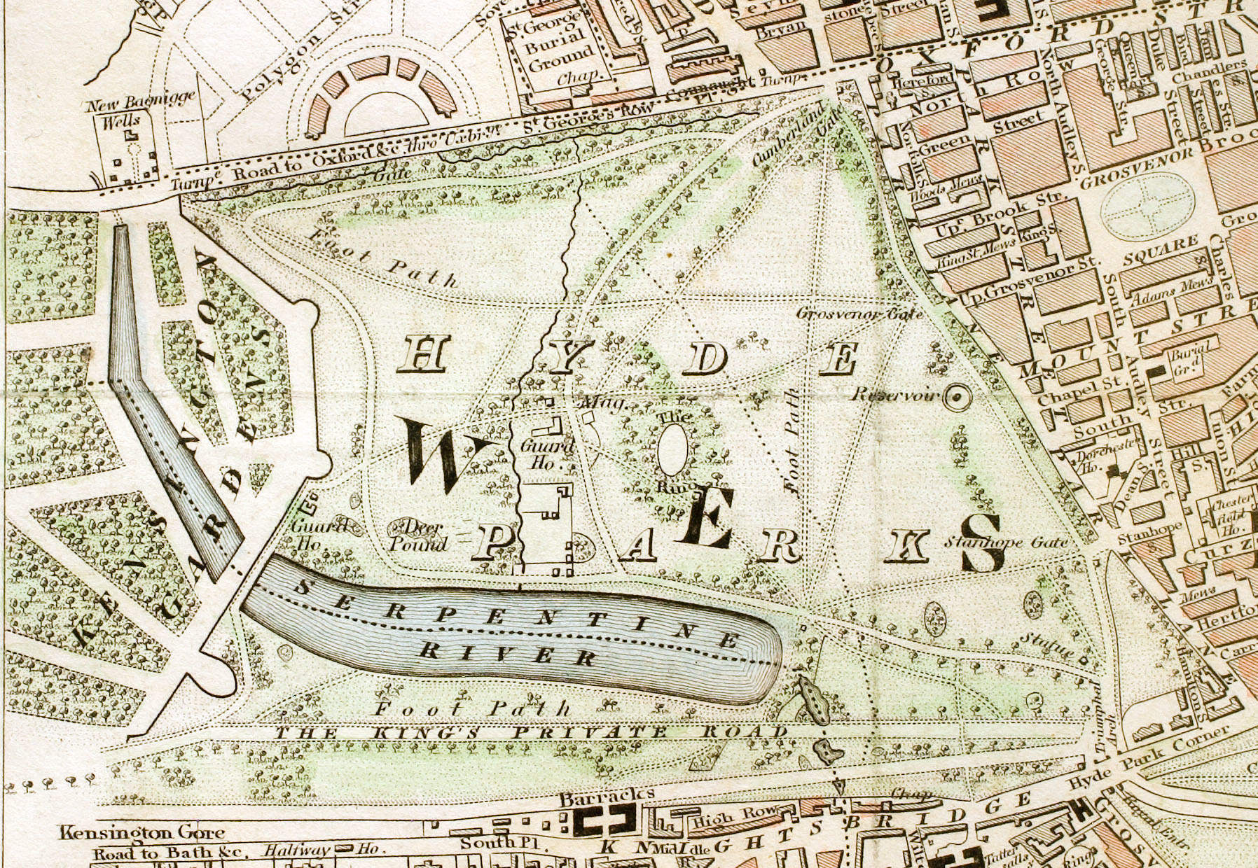 A hundred and fifty feet above Hyde Park is a scene of glory and bloodlust