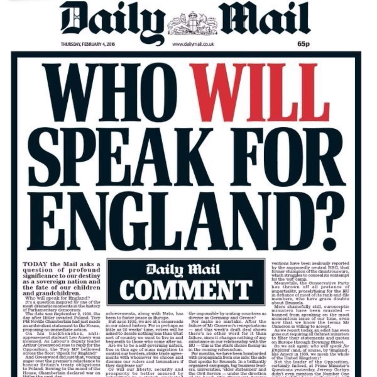 """Who """"speaks for England"""" - and for that matter, what is """"England""""?"""