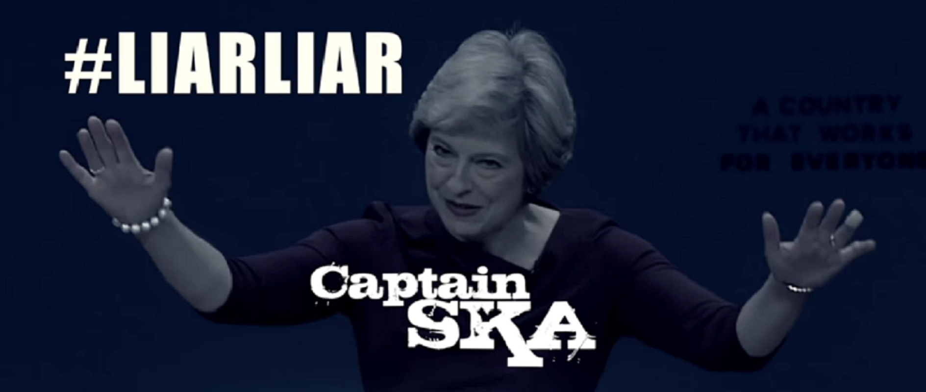 """Theresa May is a """"liar, liar"""" in this election's hit song"""