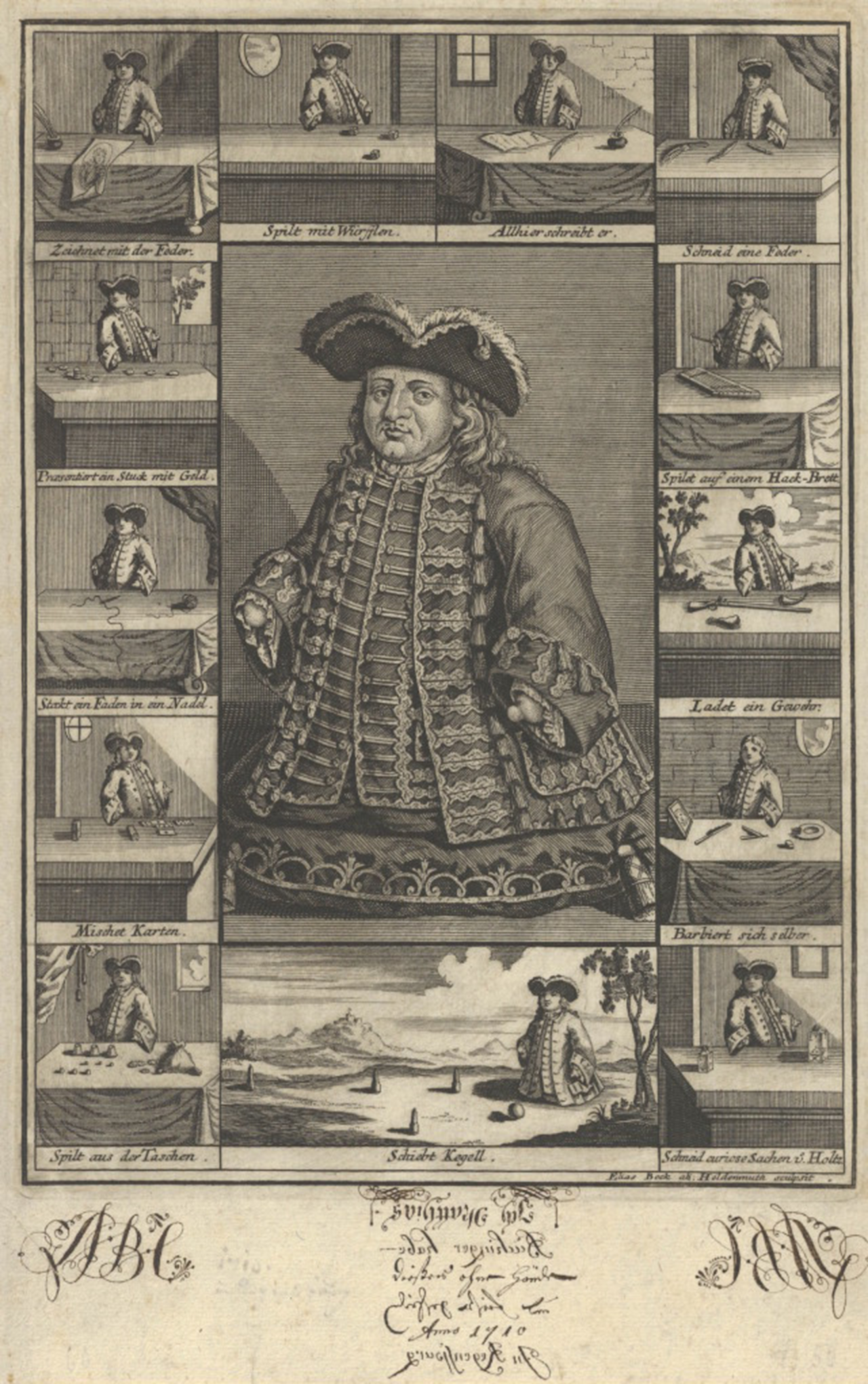 The unbelievable story of Matthias Buchinger, 18th century polymath, magician and artist