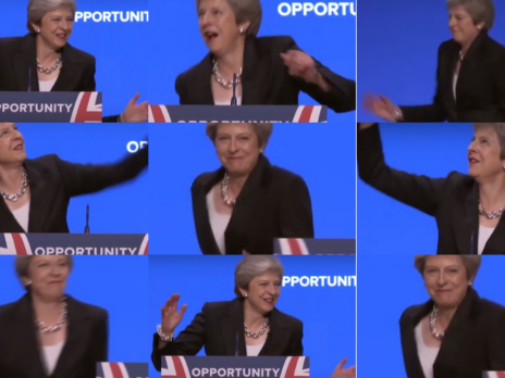 WATCH: Theresa May dances to Abba on stage as Tory conference cringes