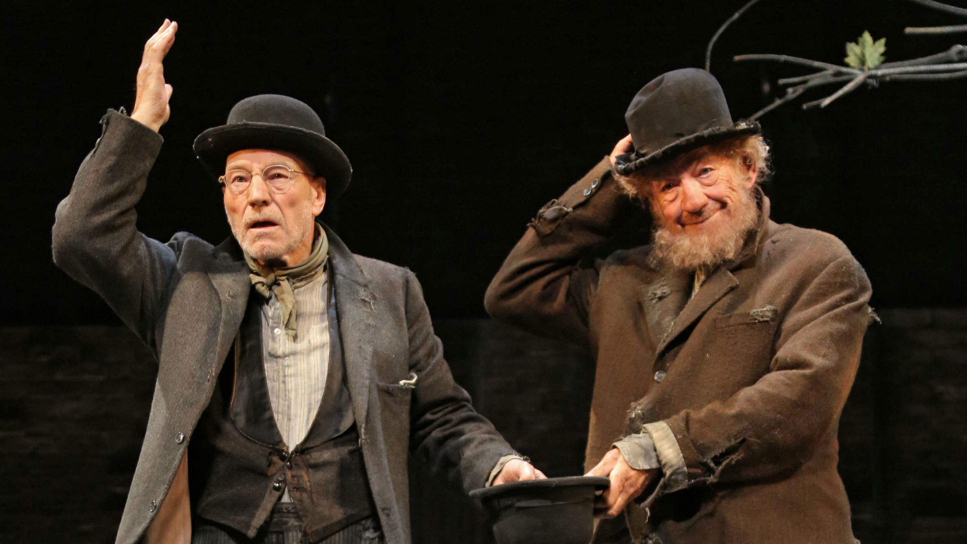 Ian McKellen and Patrick Stewart delight in the eternal puzzles of No Man's Land
