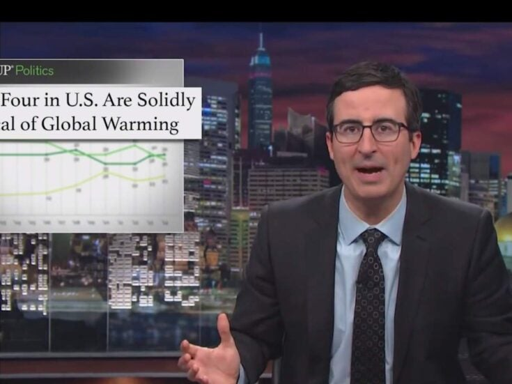 """""""You don't need people's opinions on a fact"""": how to debate a climate-change denier, according to John Oliver"""