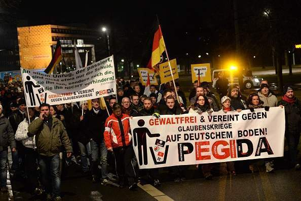Why are Pegida marching in Newcastle?