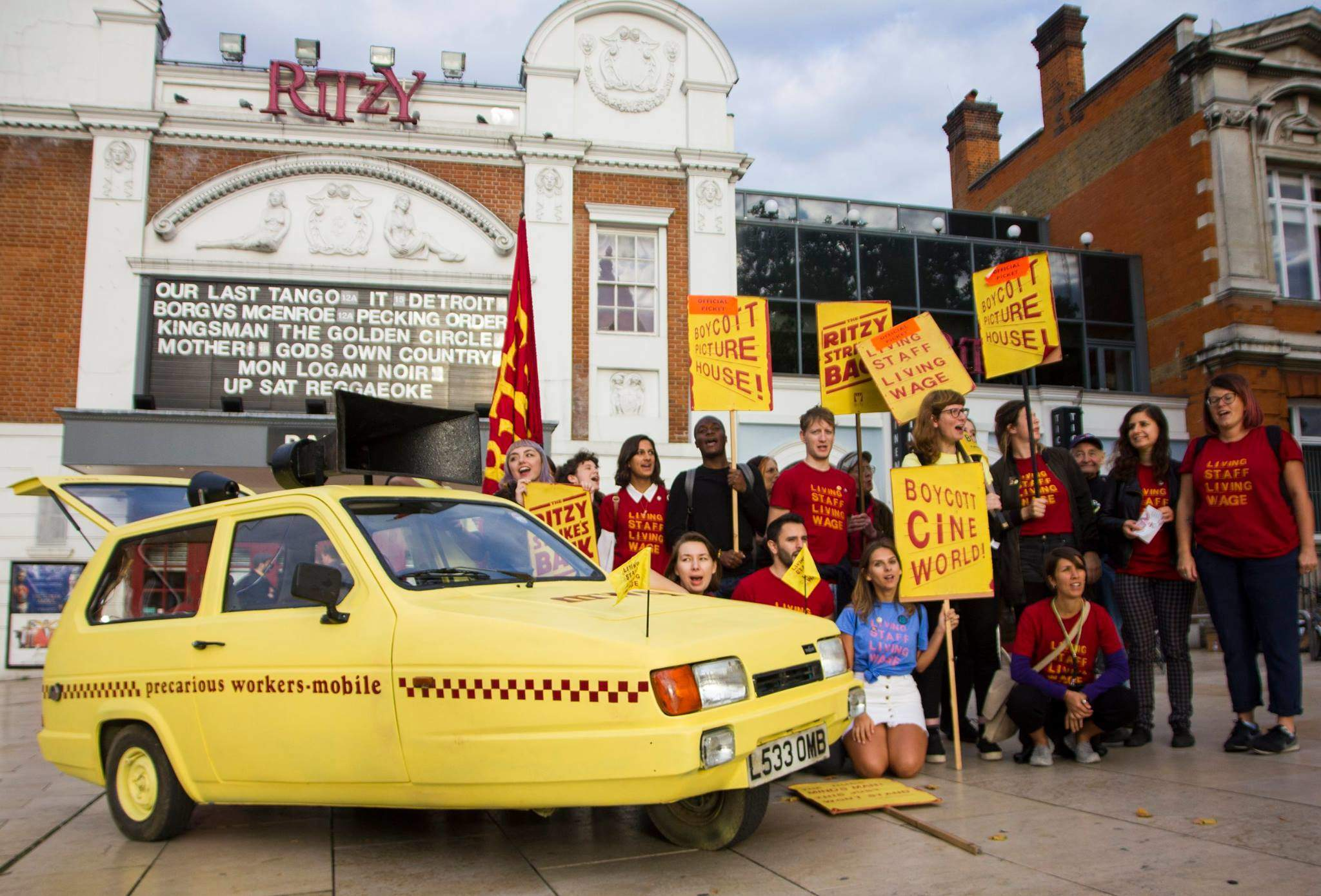 Picturehouse is threatening to sack workers striking over the living wage
