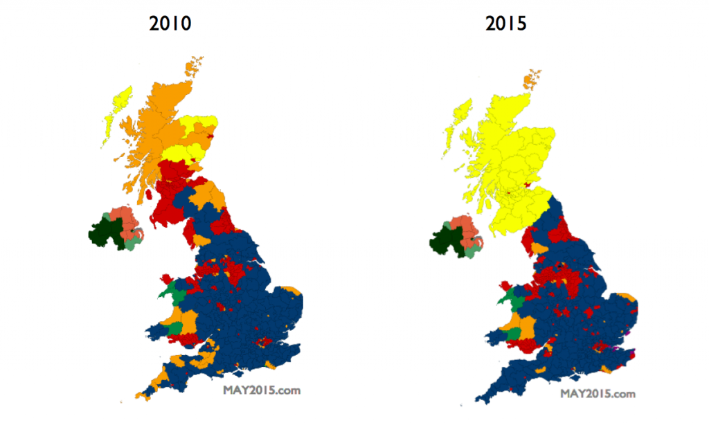 Politically, the UK is now five nations