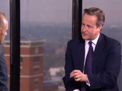 """""""I have a double battle on my hands"""": watch David Cameron's Newsnight interview"""