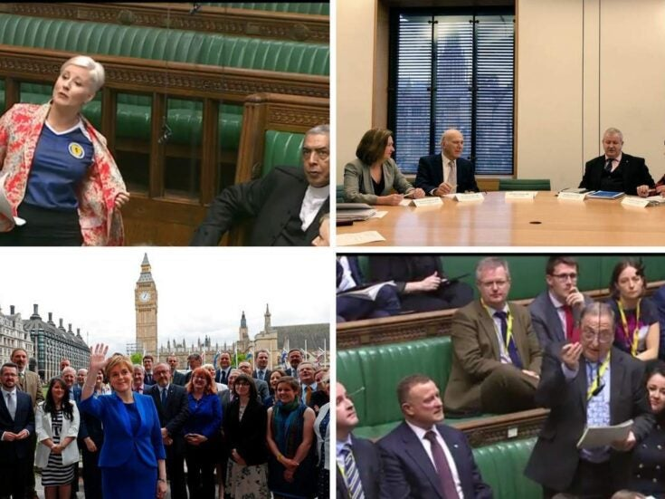 Why are SNP MPs rapping and handing out red cards at Westminster?