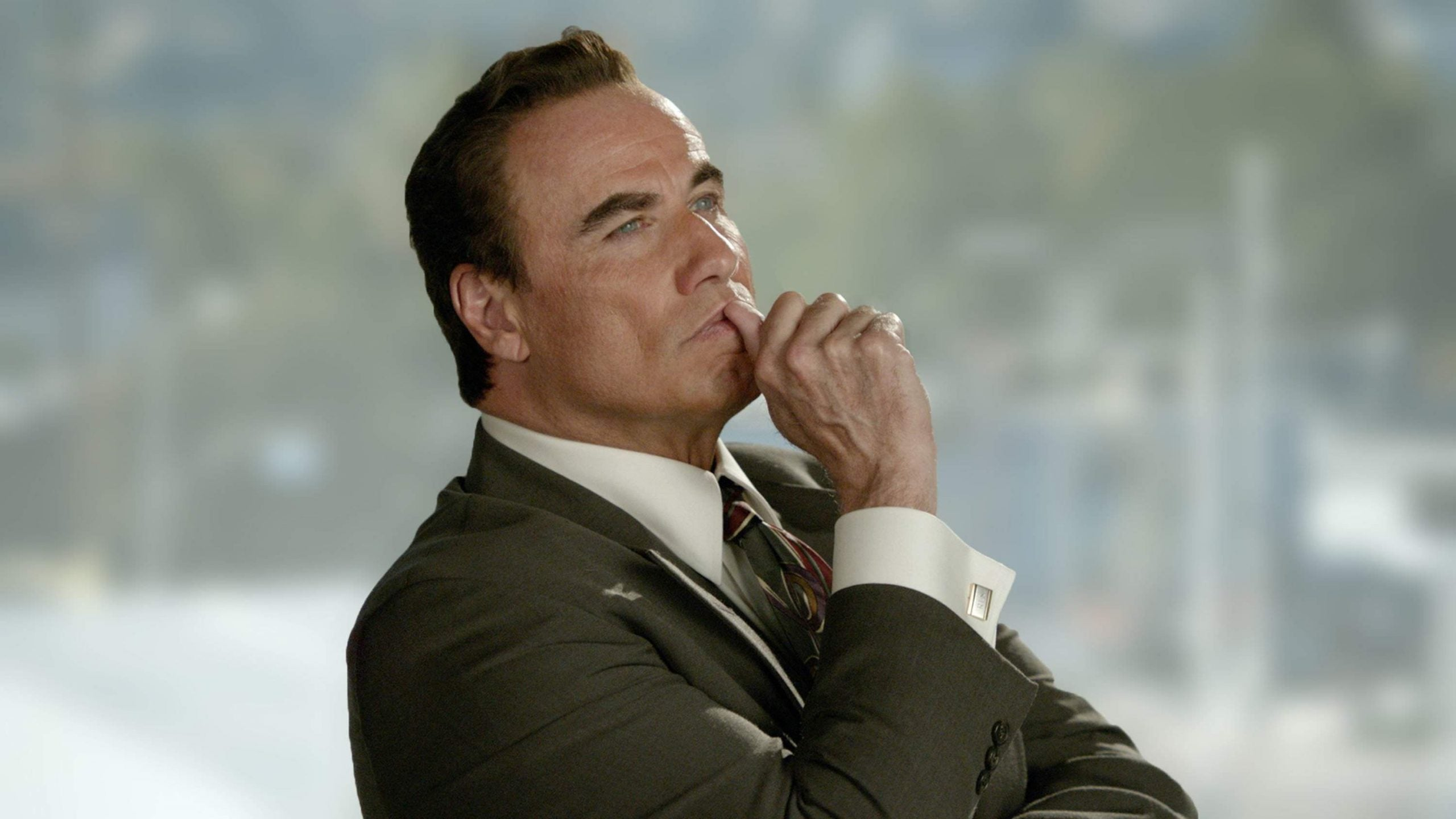 It's hard to meditate on the details of The People v O J Simpson once you see John Travolta's eyebrows