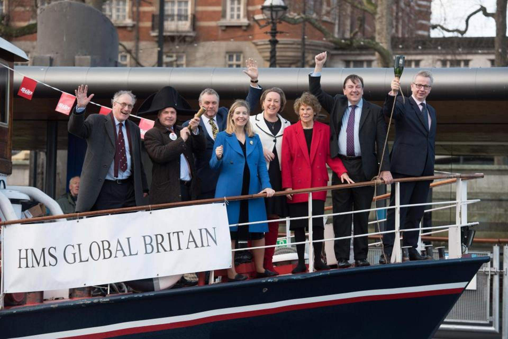 Everything that is wonderful about The Sun's HMS Global Britain Brexit boat
