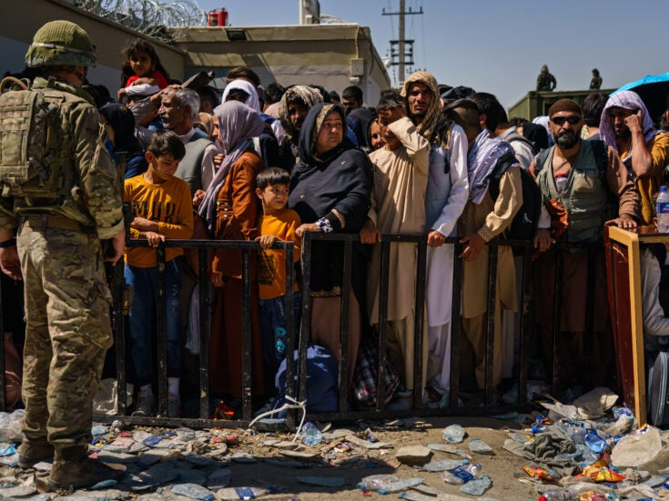 How many people has the UK evacuated from Afghanistan?