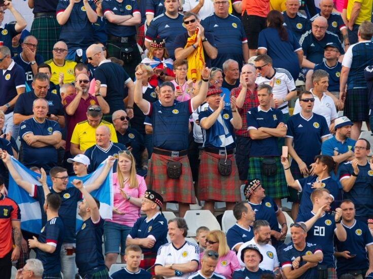 Did Scottish fans really cheer England's defeat in the Euros?
