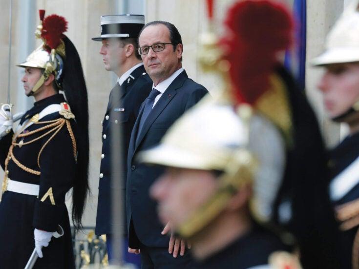 France's deluded president