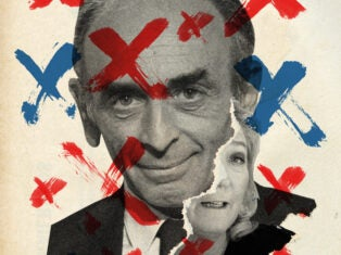 Together Éric Zemmour and Marine Le Pen, leader of the Rassemblement National, could be a significant electoral force. Illustration by Anthony Gerace.