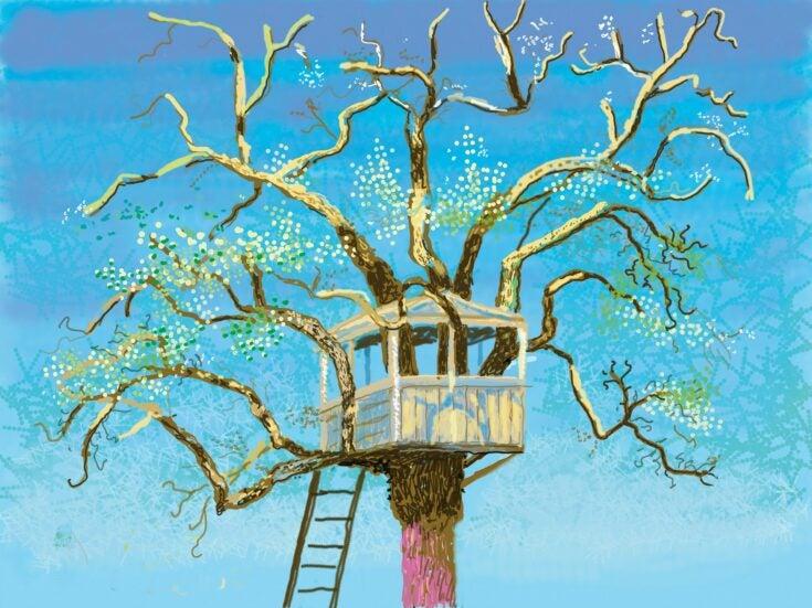 David Hockney: The Arrival of Spring is undermined by the artist's digital medium