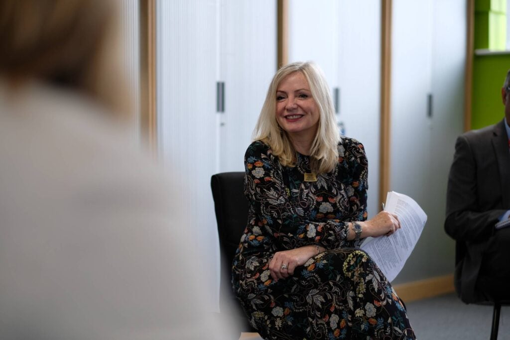Tracy Brabin being interviewed