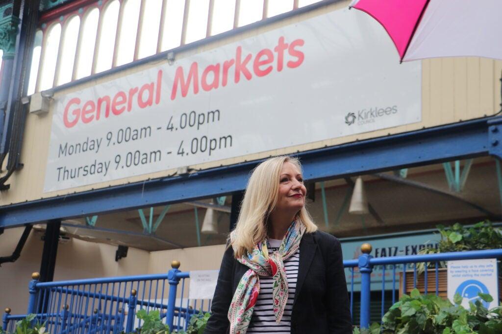 Tracy Brabin outside General Markets