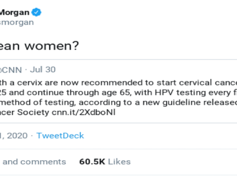 """Why should CNN tweet about """"individuals with a cervix""""?"""