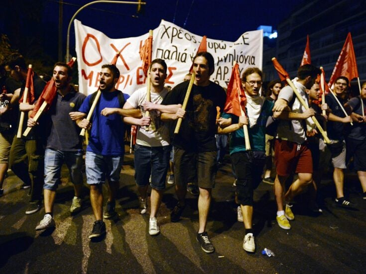 A view from Athens: Greece's shell-shocked left