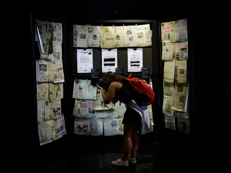 As the pink tide turns, Latin America's right launches a war on memory