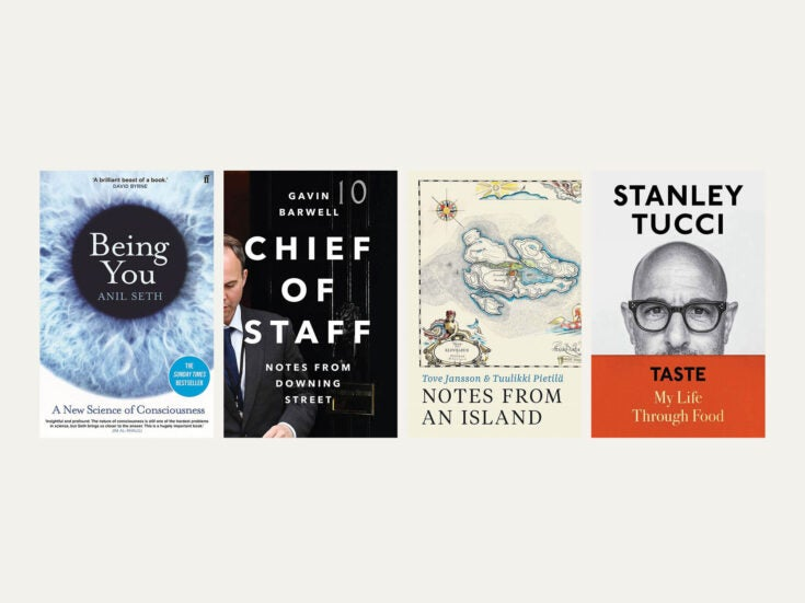 Reviewed in short: New books by Anil Seth, Tove Jansson and Tuulikki Pietilä, Gavin Barwell and Stanley Tucci