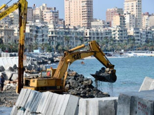 Ahdaf Soueif on climate loss: In Egypt, we watch as concrete is sunk into the Nile